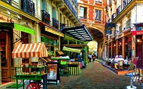 Картинка Франция, Париж, Рисунок, Улица, Paris, Арт, Art, France, Street