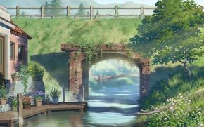 Картинка зелень, природа, река