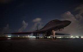 Обои стратегический бомбардировщик, Rockwell, B-1B, Lancer