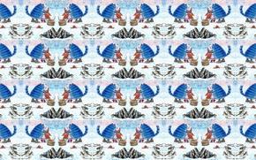 Картинка зима, кот, снег, настроение, праздник, отдых, рыбалка, рыбка, текстура, арт, пара, Новый год, свидание, прорубь