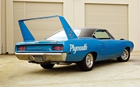 Картинка Blue, 1970, Plymouth, Back, Muscle car, Superbird