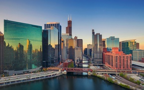 Картинка небоскреб, дома, Чикаго, США