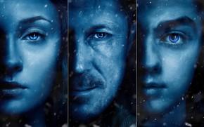 Картинка A Song of Ice and Fire, Arya Stark, Game Of Thrones, Sansa Stark, tv series, …