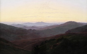Картинка пейзаж, горы, картина, Каспар Давид Фридрих, Ризенгебирге