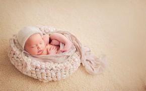 Картинка фон, сон, малыш, кокон, младенец