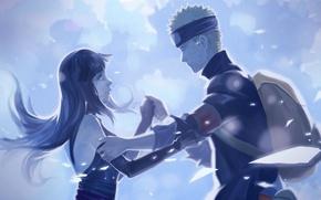 Картинка лунный свет, naruto, art, Uzumaki Naruto, Hyuuga HInata, Naruto The Movie: The Last