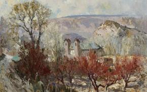 Картинка пейзаж, картина, Святилище, Fremont Ellis, Фремонт Эллис