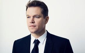 Картинка взгляд, костюм, актер, actor, Matt Damon, Мэтт Деймон
