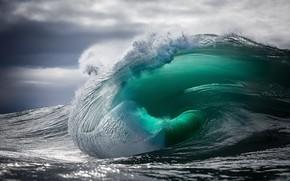 Картинка море, небо, облака, тучи, природа, блики, океан, волна