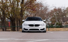 Картинка BMW, Front, White, Autumn, Sight, F83