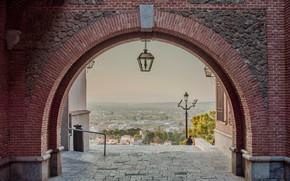 Картинка дома, фонарь, арка