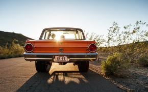 Картинка Car, Old, Road, Ford Falcon