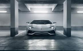 Обои Lamborghini, суперкар, вид спереди, 2018, Novitec Torado, Aventador S