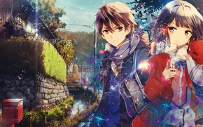 Картинка city, asian, manga, scarf, japanese, oriental, asiatic, Yasaka High School, Masamune-Kun no Revenge, Masamune Makabe, …
