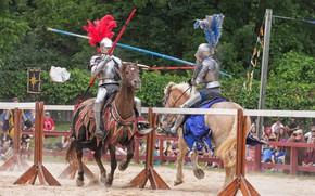 Картинка доспехи, лошади, рыцари, турнир