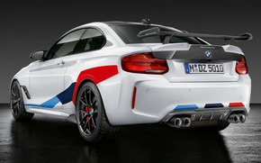 Картинка BMW, вид сзади, 2018, Competition, M Performance, F87, BMW M2, M Performance Accessories