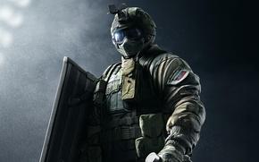 Картинка game, soldier, Rainbow Six, shield, Спецназ, Tom Clancy's Rainbow Six Siege, Rainbow Six Siege, Fuze, ...