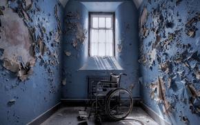 Картинка комната, окно, коляска