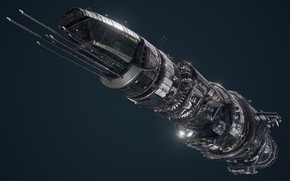 Картинка транспорт, корабль, аппарат, борт, USR Colossus