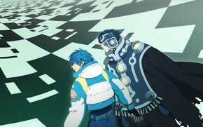 Картинка DRAMAtical Murder, Nitro+CHiRAL, CG Art, Seragaki Aoba, Noiz (DMMd), Usagi Atama, Honya Lala, Ren (Human)
