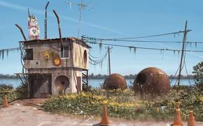 Картинка берег, строение, astronomen