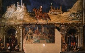 Картинка Simone Martini, Equestrian portrait, Чивико в Сиене, of Guidoriccio da Fogliano