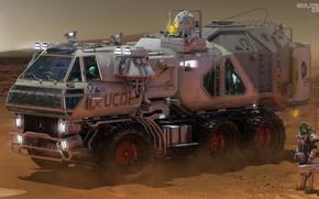 Картинка Isolate 2399 Rover, пустыня, автомобиль