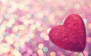 Картинка любовь, сердце, love, heart, pink, romantic, bokeh