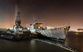 Картинка корабль, порт, лом