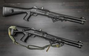 Обои фон, ремень, оружие, ружье, помповое