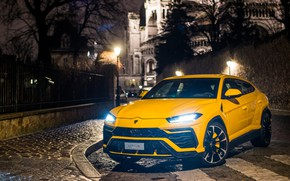 Картинка фары, Париж, Lamborghini, 2018, Urus