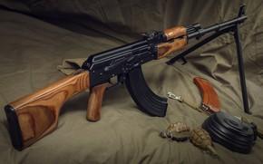 Обои оружие, weapon, пулемёт, РПК, machine gun, RPK