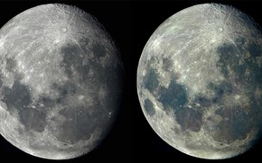 Картинка космос, поверхность, луна, спутник