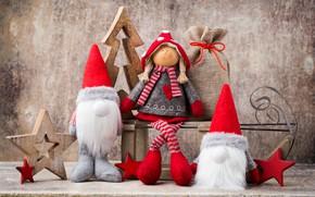 Картинка украшения, игрушки, кукла, Новый Год, Рождество, happy, Christmas, vintage, wood, New Year, Merry Christmas, Xmas, …