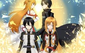 Картинка sword, love, game, anime, fairy, ken, blade, asian, manga, japanese, Sword Art Online, Kirito, Kirigaya …