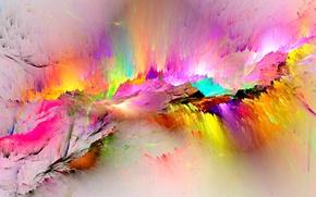 Обои background, rainbow, colorful, colors, splash, bright, painting, фон, abstract, краски
