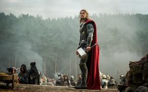 Картинка cinema, Marvel, movie, hero, film, Chris Hemsworth, god, uniform, yuusha, seifuku, cape, mjolnir, Walt Disney ...