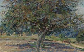Картинка пейзаж, картина, импрессионизм, Арман Гийомен, Armand Guillaumin, Деревья в Иль-де-Франс