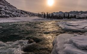 Картинка река, Горный Алтай, Катунь