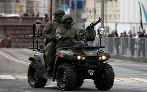 Обои спецназ, армейский, мотовездеход АМ-1