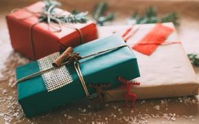 Картинка праздник, новый год, подарки