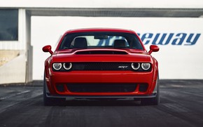 Картинка Challenger, red, sportcar, 2018, musclecar, SRT, Demon