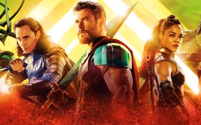 Обои Jeff Goldblum, Hela, Tessa Thompson, God, Thor: Ragnarok, Thor 3, Odin, Grandmaster, Asgardian, Heimdall, Idris ...