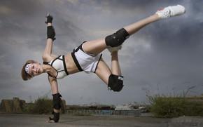 Обои девушка, спорт, азиатка