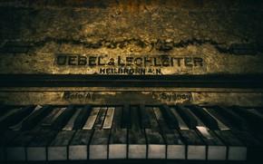 Картинка клавиши, пианино, Old Piano