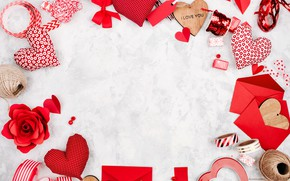Картинка любовь, романтика, сердечки, red, love, romantic, hearts, Valentine's Day, gift, decoration