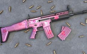 Обои Pink, Scar, Assault Rifle