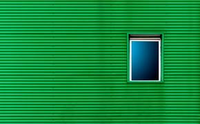 Картинка стена, окно, зелёный