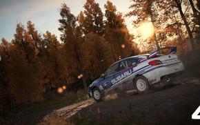 Картинка car, Subaru, game, race, speed, Dirt 4