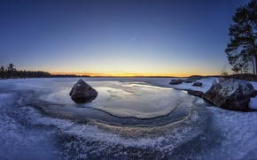 Картинка снег, камни, лёд